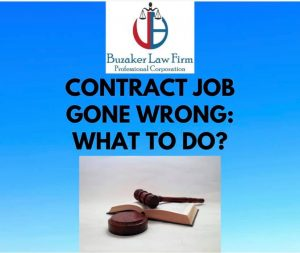 what to do if contract job gone wrong