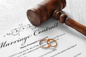 marriage contract and rings
