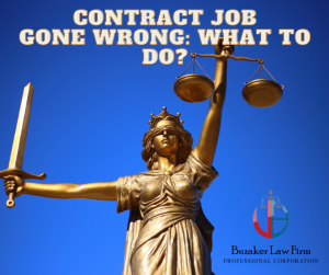 what to do when contract job goes wrong