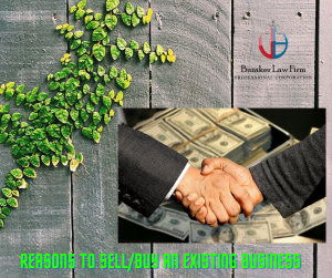 reason to sell or buy an existing business